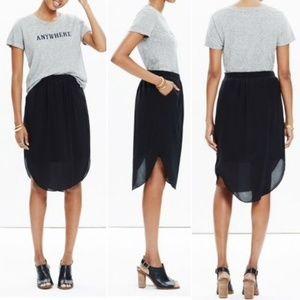 Madewell Island Silk Midi Skirt